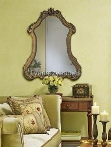 Large 43 Shaped Arch Wall Mirror Vanity Antique Ornate Horchow Unique