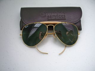Vintage Bausch & Lomb RAY BAN Aviator Sunglasses Large Aviators with