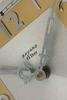 Huge Bauhaus Art Deco Bayard Weatherstation Barometer 8 Days Clock