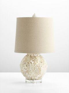 French Mum Seashell Table Lamp Shell Ocean Beach Chic Coastal Designer
