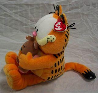 Garfield w Pooky Teddy Bear Plush Stuffed Animal Toy New Ty Classic