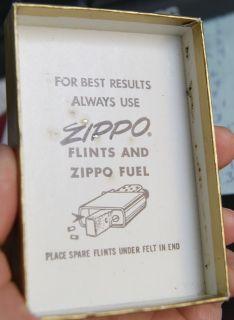 Vintage Old 1970 Zippo Bechtel Cigarette Lighter in Box