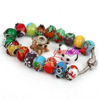 Zoo Lampwork Glass European Bead Fit Charm Bracelet 152247