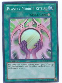 Beastly Mirror Ritual Yugioh Card Mint RARE PRC1 EN002 Super 1st