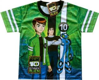 BEN 10 ULTIMATE ALIEN HERO TIME NWT Handsome Kids Boy T Shirt Sz M Age