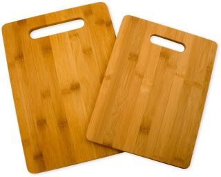 cutting board set 2 piece by totally bamboo