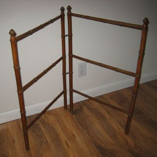 French Faux Bamboo Antique Towel Rack or Doll Quilt Holder