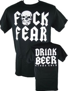 Stone Cold Steve Austin F Fear Drink Beer T Shirt New