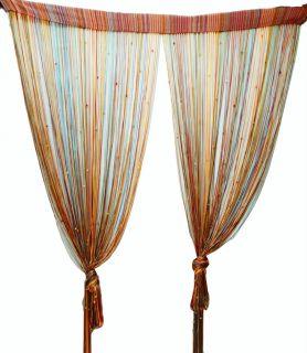 Beaded Curtain Drapes Multi Color Door Window Valance Handmade Room