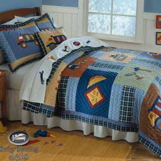 Construction Truck Quilt Bedding Bed Set Twin Full Queen Size