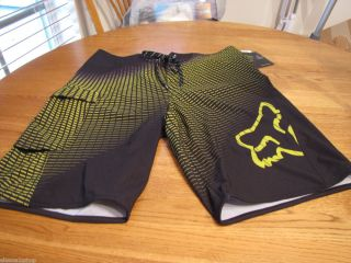 Board Shorts Swim Surf Skate Blk Yellow 36 Q4QD Bede Durbidge