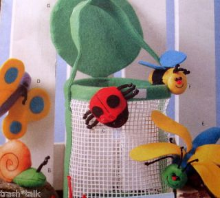 Felt Bug Catcher Pattern Ladybug Bumble Bee Butterfly Dragonsly Spider