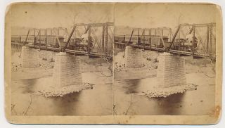 ARKANSAS SV   White River   Train on Bridge   FF Fyler 1880s