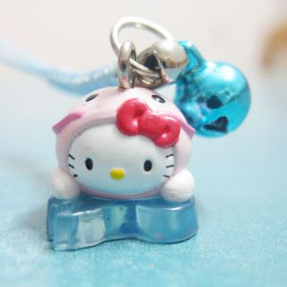 Kitty Pendant Charm with Strap Bell for Mobile Phone HK628 2cm
