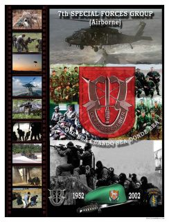 Special Ops Army Green Berets 7th Special Forces Poster