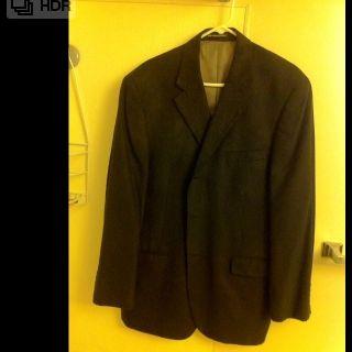 Geoffrey Beene Mens Navy Blue blazer sports jacket size 44R