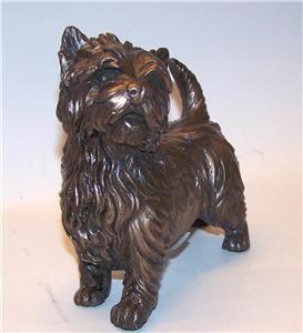 Beauchamp Bronze West Highland White Westie Terrier Dog Sculpture