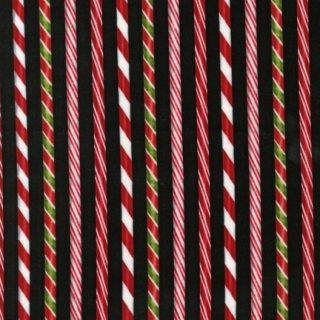 Holly Jolly BT Yard Christmas Candy Cane Stripe on Black