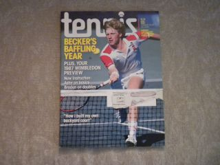 Tennis Magazine July 1987 Boris Becker Wimbledon preview USTA Hartru
