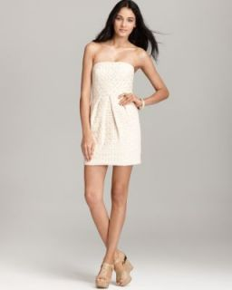 Tibi New Ivory Bello Lace Pleated Front Sleeveless A Line Casual Dress