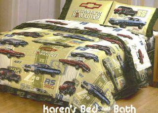 Chevrolet Chevy Cars Boys 4pc Full Sheet Set Sheets New