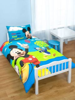 Mouse   Childrens Puzzled Junior / Toddler / Cot Bedding Set   BNIP