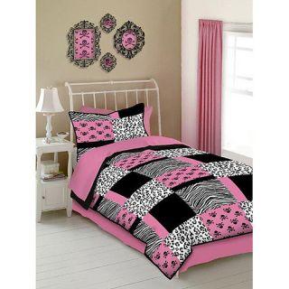 Pink Skulls Comforter Sheets Sham Skirt Set Dorm Teen Girls Bedding