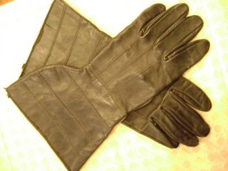 Vintage 1930s Driving Gloves Automobile Car Antique Gloves Leather