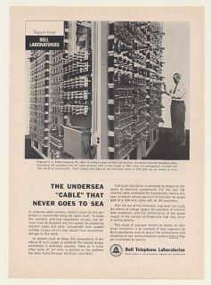 1963 Bell Telephone Labs Simulated Undersea Cable Ad