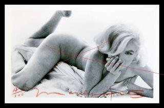 Bert Stern Signed Marilyn Monroe Bed Scene Body Profile Shot 28