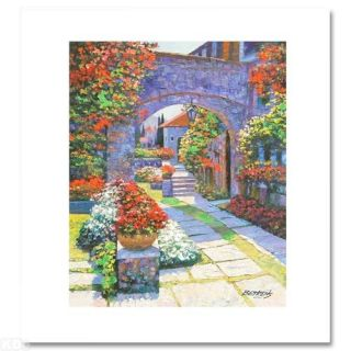 Howard Behrens View from The Villa Hand Embellished