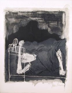 ben shahn lithograph from the rilke portfolio 1968