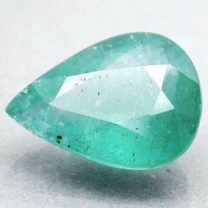 Quality Natural Pear Top Blueish Green Serbia Emerald Beryl