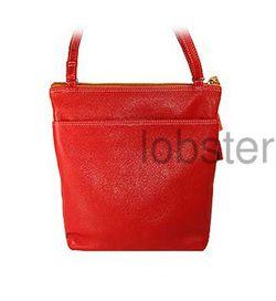 Belarno Soft Fine Purple Leather Crossbody Slim Purse Handbag Shoulder