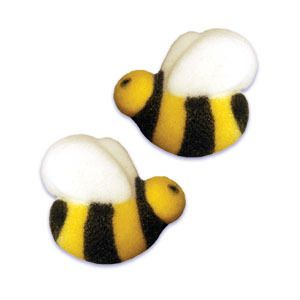 12 Bumble Bee Party Cupcake Sugar Shape Insect Birthday