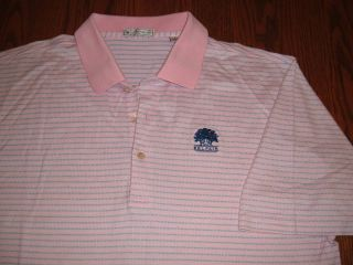PETER MILLAR BELFAIR SHORT SLEEVE POLO SHIRT MENS LARGE EXCELLENT
