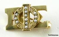 phi beta sigma fraternity 10k gold pearl pin badge
