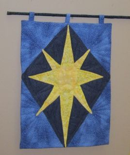 Bethlehem Star Christmas Quilted Wall Hanging
