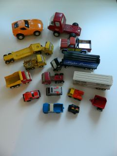 Lot of Tonka Vehicles Assorted Lot Cars Trucks Trailers