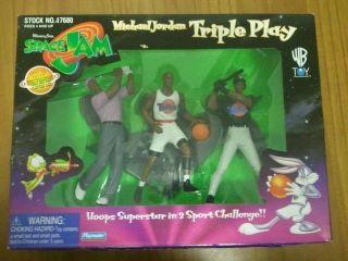 Space Jam Michael Jordan Triple Play Figures set New Playmates Warner