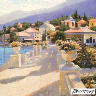 Howard BehrensBellagio Promenade II s N COA on Canvas