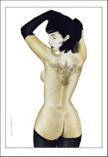 BETTIE PAGE~THE CROW~TATTOO~PITTARELLI~13x19~LTD ED PRINT~1/10