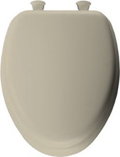 Bemis Mayfair Bone Elongated Soft Padded Toilet Seat 113EC 006