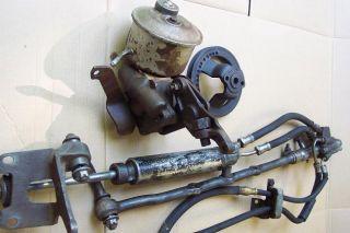 1955 1956 Ford Complete Original Power Steering Setup 55 56