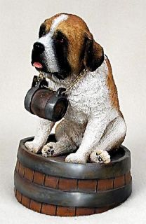 Saint Bernard w/Rough Coat Statue Figurine. Home Decor Yard Garden Dog