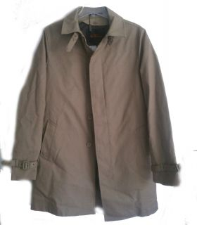 Ben Sherman Men Size M Rain Coat Trench Style with removable inside