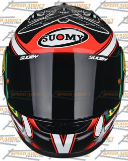 Suomy Excel 2012 BIAGGI Pirate Full Face Motorcycle Helmet Medium