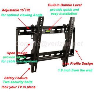 LCD LED Plasma Tilt TV Wall Mount for Sony KDL40EX640 KDL46EX640