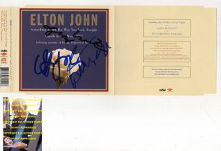 Elton John Bernie Taupin George Martin Signed Autographed Diana CD wth