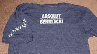 Absolut Berri Acai Vodka Women Promo Shirt Small New